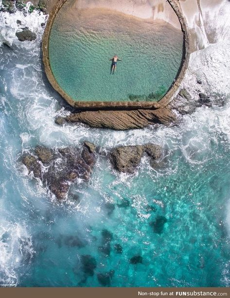 Concrete pool at Victoria Beach - FunSubstance