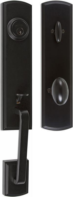 EZ Set BP 400 BN Briona Single Cylinder Door Handle Set From The