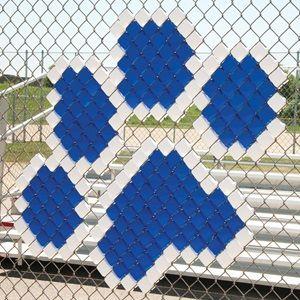 fence art. putincups fence art paw cheer pinterest cups and school spirit f