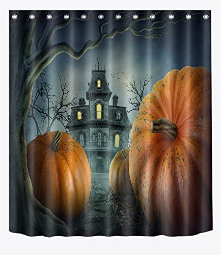 Lb Haunted Mansion Dark Night Forest Shower Curtain Set For
