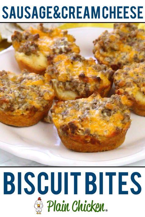 Sausage & Cream Cheese Biscuit Bites