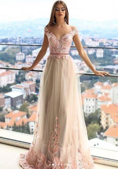 2019 Pudra Rengi Elbise Modelleri The Dress Aksamustu Giysileri Elbise Modelleri