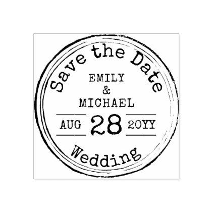 Elegant script wedding save the date rubber stamp   zazzle. Com.