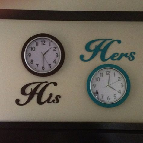 Deployment clocks: My way of representing our time apart while he is on deployment...