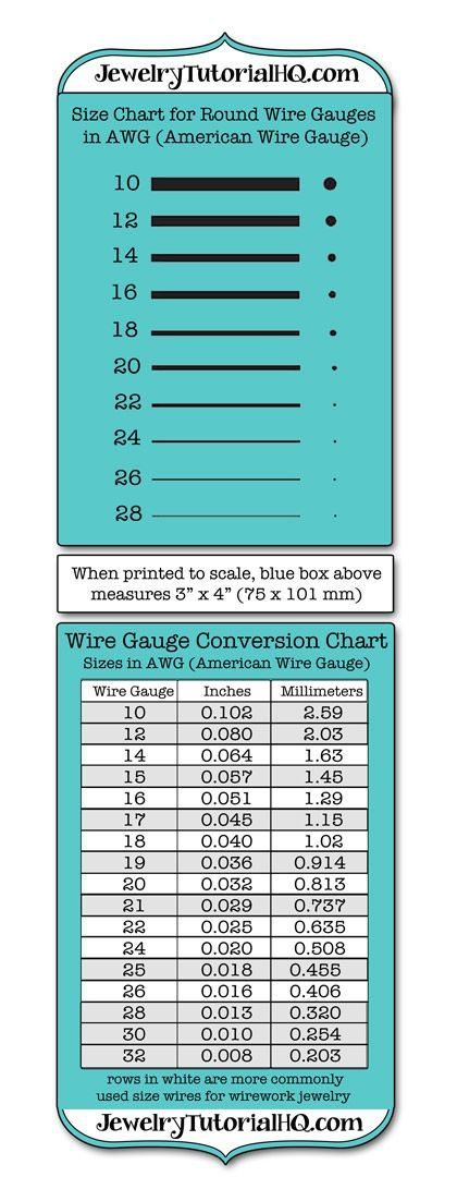 Comprehensive jewelry wire gauge information. Did you know that ...