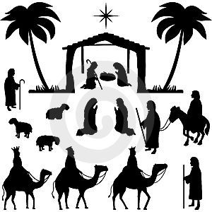 photo about Free Printable Silhouette of Nativity Scene known as Impression consequence for totally free printable silhouette of nativity scene