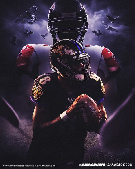 Lamar Jackson & Michael Vick, Baltimore Ravens, Atlanta FalconsYou can find Baltimore ravens and more on our website. Falcons Football, Kansas City Chiefs Football, Football Art, Giants Baseball, Pittsburgh Steelers, Dallas Cowboys, Nba Pictures, Football Pictures, Nfl Photos