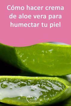 Cómo Hacer Crema De Aloe Vera Para Humectar Tu Piel Crema De Aloe Vera Sabila Para La Cara Bicarbonato Para La Cara