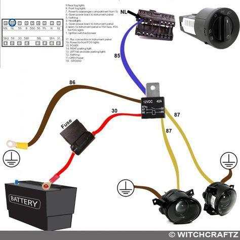 Fog light mk4 harness wiring diagram | Automotive electrical, Automotive  repair, Electrical wiring diagram | Motorcycle Fog Lights Wiring Diagram |  | Pinterest