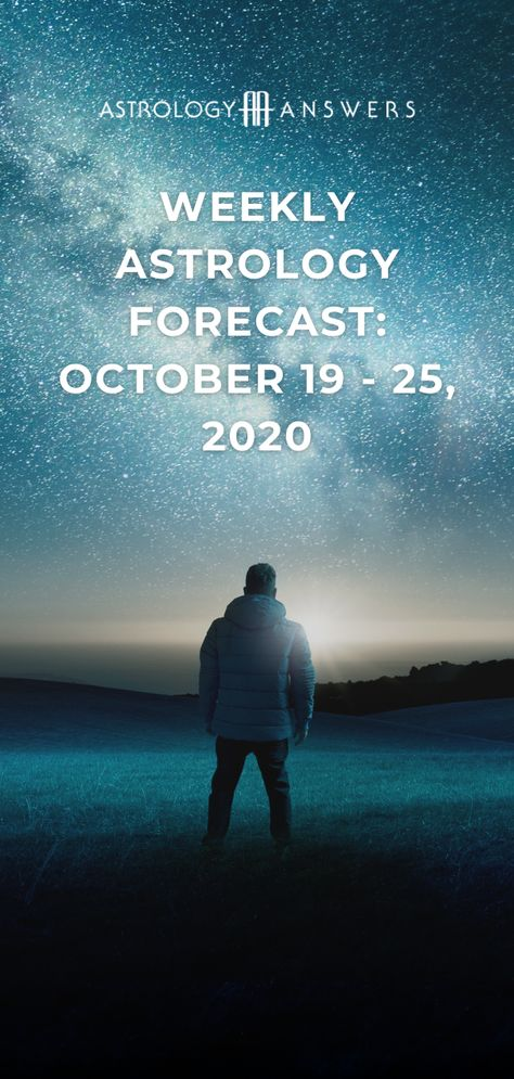 Are you ready for the Sun to move into the dark and mysterious sign of Scorpio? Learn about this and more in the latest astrology forecast for October 19 - 25, 2020. #astrology #astrologyforecast #weeklyastrology