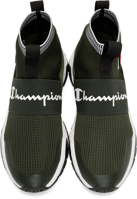 60f20792851 Champion Reverse Weave - Green Rally Pro High-Top Sneakers ...