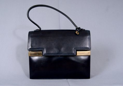 6ad3cf111 Le Tempéte DELVAUX Bruxelles Rare Vintage 1960s Leather by vdpshop