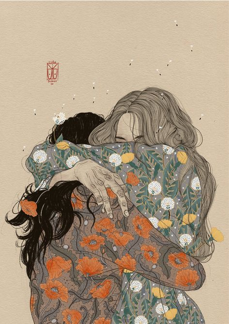 Lyrical Illustrations by Käthe Butcher Explore Femininity, Emotion, and Human Intimacy   Colossal