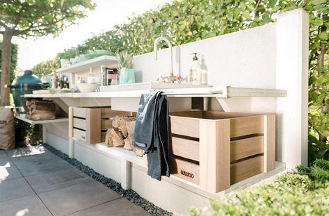 diy - upcycling outdoor Küche aus einer Werkbank Gardens, Rooftop