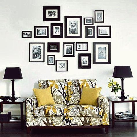 50 coole ideen, um familienfotos auf ihren wänden