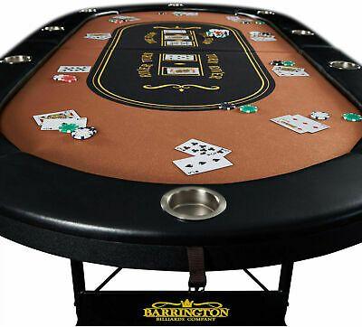 10 Player Poker Table Texas Holdem Folding Portable Casino Felt Top Cushioned 6000198700884 Ebay In 2020 Poker Table Poker Casino Games