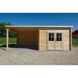 Abri Toit Plat 9m Terrasse Couverte Laterale 9m Gardy Shelter Terrasse Couverte Abri De Jardin Bois Abri Jardin Toit Plat