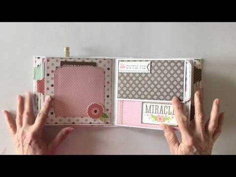 Echo Park Bundle of Joy Baby Girl Mini Album - YouTube