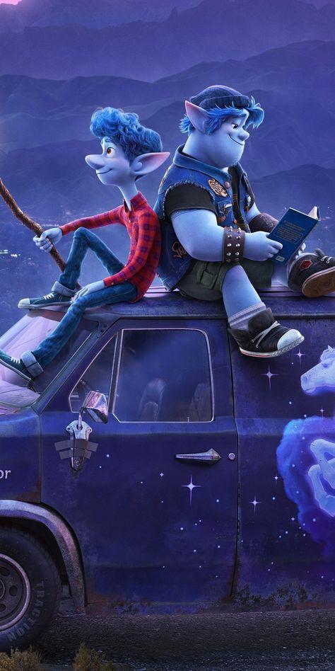 Onward, elf brothers, movie, 1080x2160 wallpaper