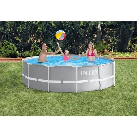 Intex Kit Piscine Prism Frame Ronde Tubulaire 3m66 X 99 Cm