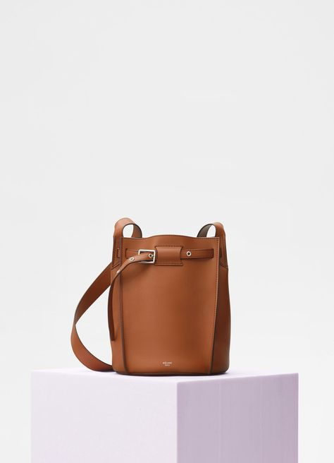 Big Bag Bucket with long strap in smooth calfskin - Handbags   CÉLINE