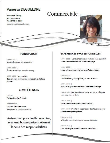 Epingle Sur Curriculum Vitae Cv