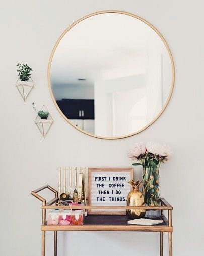 Tendência espelhos redondos na decoração | Decoração hall de ...