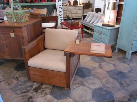 Vintage Crate Furniture Chair with Tray...
