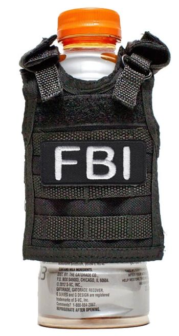 Looking for police party accessories? This FBI Koozie is a perfect party decoration!