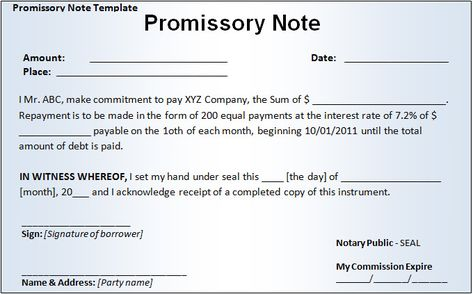 Promissory Note Template Free \ Premium Templates v Pinterest - promissory note word template