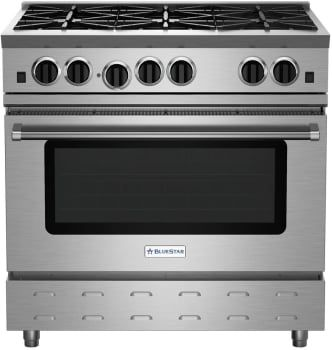 Bluestar Rnb366bv2lp 36 Inch Rnb Series Gas Range With 5 0 Cu Ft Convection Oven 6 Open Burners 22 000 Btu Power Bu Convection Oven Gas Range Stoves Range