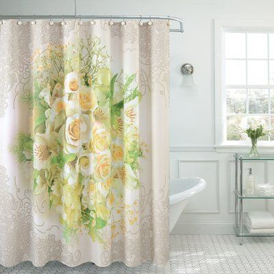 Daniels Bath Fancy Tulip Single Shower Curtain Fancy Shower