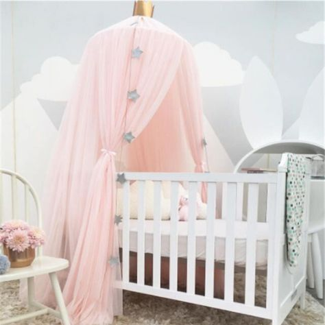 Baby Cot Bed /& Playpen 2 Layers With Mattress /& Canopy Baldachin Swing Function