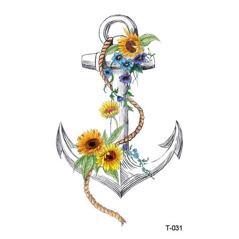 Wyuen New Design Flower Anchor Waterproof Temporary Tattoo Stickers for Adults Kids Body Art Fake Tatoo for Man Woman T-031. Yesterday's price: US $0.62 (0.54 EUR). Today's price: US $0.41 (0.36 EUR). Discount: 34%.