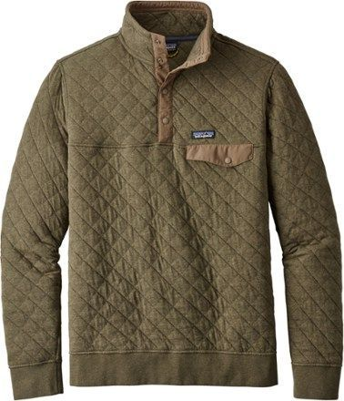 e34b3173 Patagonia Men's Cotton Quilt Snap-T Pullover Industrial Green XXL