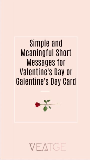 Best Messages For Valentine S Day Or Galentine S Day Card With