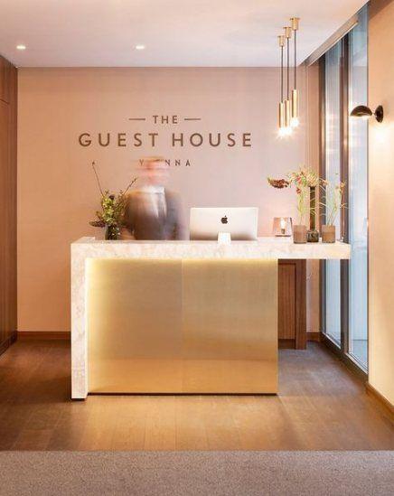 Wall design hotel reception desks 28+ new ideas