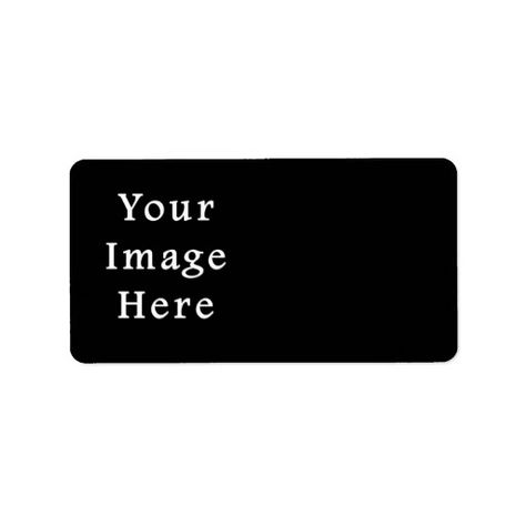 Pure Black Color Trend Blank Template Label