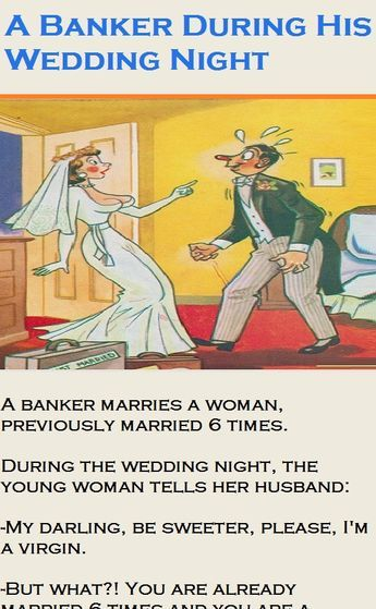 A Banker During His Wedding Night Funny Story Couplejokes Funny Marriage Jokes Funny Relationship Jokes Funny Stories