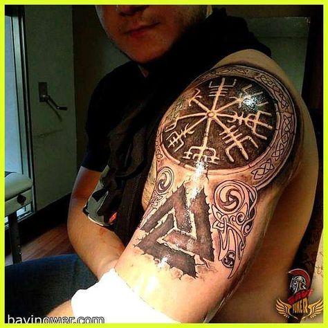 Coole Mode Viking Vegvisir Kompass Anhänger Odins SymbolDer AnhängerHalskette w*