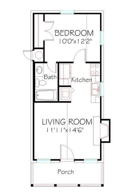 48 Ideas House Plans One Story Country Front Elevation For 2019 Small House Layout Small House Floor Plans Tiny House Layout