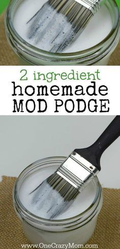 how to make homemade mod podge - you have to try this easy homemade mod podge recipe with only 2 easy ingredients. So simple! #onecrazymom #modpodge #homemadehodpodge #diy