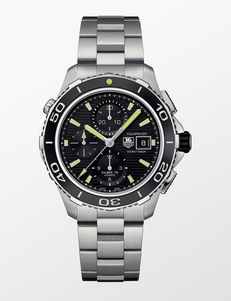 03530dbb28e TAG HEUER AQUARACER 500M CALIBRE 16 AUTOMATIC CHRONOGRAPH 43 MM