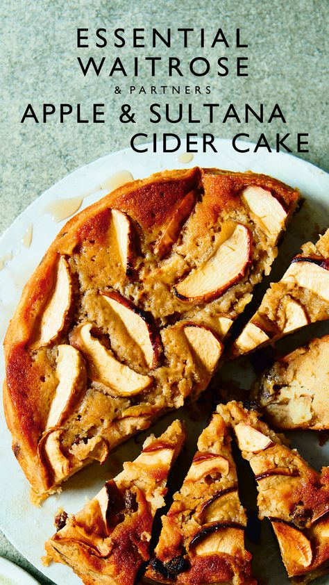 Deliciously moist, this cake can either be served warm, with ice cream or left to cool for a teatime snack. Use whichever apples are in season.  Tap for the full Waitrose  Partners recipe.