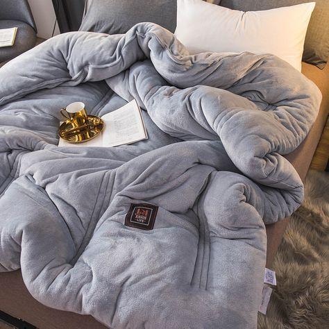 Decbest Luxus Flanell Steppdecke Winter Weiche Warme Bettdecken