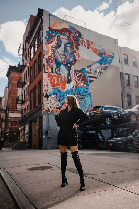 big city of dreams mural- Soho Model Poses Photography, City Photography, Photography Backdrops, Indoor Photography, London Photography, Iphone Photography, Photography Degree, Photography Hashtags, Fashion Photography
