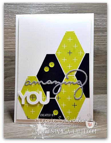 Another card from my Amazing You class earlier this month using Celebrate You Thinlits and the Tailored Tag Punch from Stampin' Up!