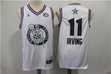 newest 61446 ba280 Celtics 11 Kyrie Irving White 2019 NBA All-Star Game Jordan ...