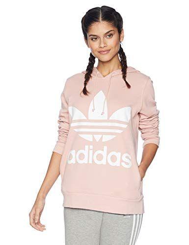 adidas Originals Women's Trefoil Hoodie, Pink Spirit