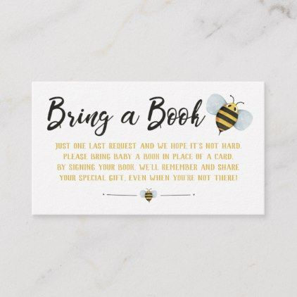 Mama To Bee Books For Baby Enclosure Card Zazzle Com Bee Book